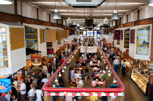 The Public Market provides visitors with great food, sights and sounds.