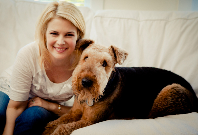 Tamara Taggart and her dog