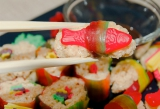 Candy sushi is as much fun to make as it is to eat.
