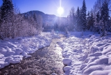 Winter river in Whistler