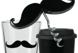 Moustache-y cups and corkscrew