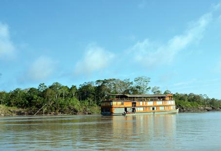 The Delphin II riverboat offers the best views of Peru's Amazon