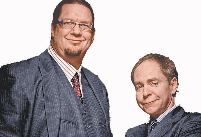 Catch world class illusionists Penn & Teller at the Red Robinson Show Theatre