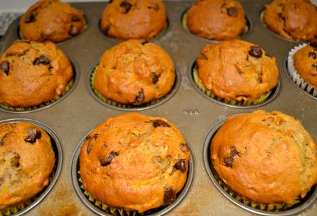 Gluten-free Carrot Banana Chocolate Chip Muffins | BCLiving