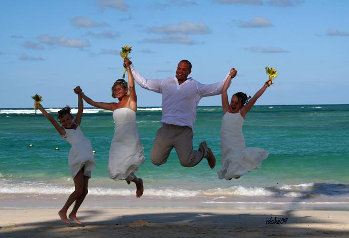 Destination weddings are often cheaper - and more fun - than a traditional celeb
