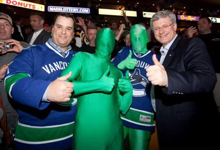The Green Men and Stephen Harper