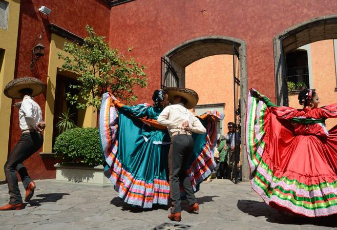 A tapestry of culture shows itself through the traditional Mexican hat dance
