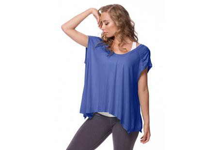 Karma's Cielo Tee drapes loosely so it's perfect for layering