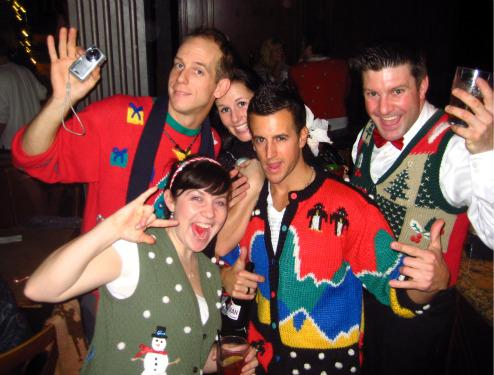 Ugly holiday sweaters at the Commodore Ballroom