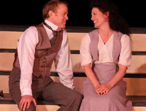 John Murphy and Jennifer Lines play reluctant lovers in Much Ado About Nothing