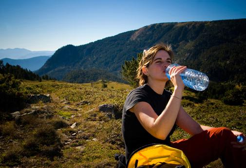 You should snack every two hours during a hike