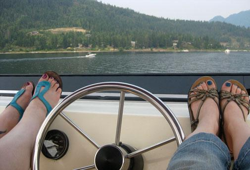 Houseboating on the Shuswap is quintessential BC