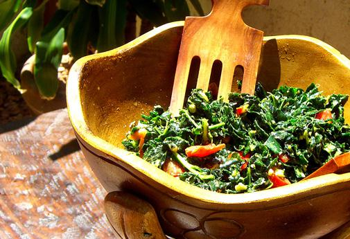 Use kale in salads as an alternative to lettuce