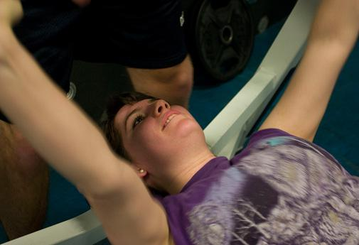 Bench presses work out your chest muscles