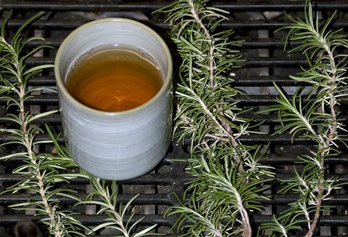 Rosemary tea can help with indigestion and improve memory and brain function