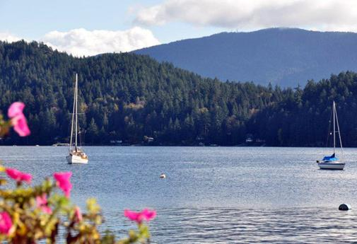 Sechelt's tranquil bay offers picnic-worthy views of the Sunshine Coast