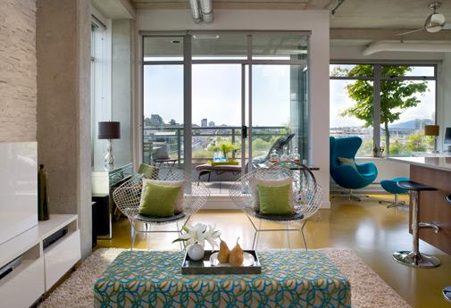 Maximizing the light your small space receives will make it feel bigger than it