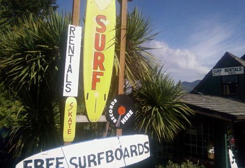 The Long Beach Surf Shop in Tofino will rent you all the surfing gear you need
