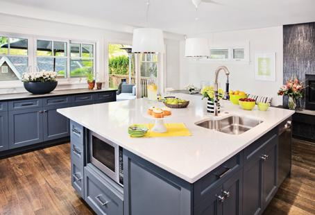 Homeowner Liz Southam has tons of enviable counter space