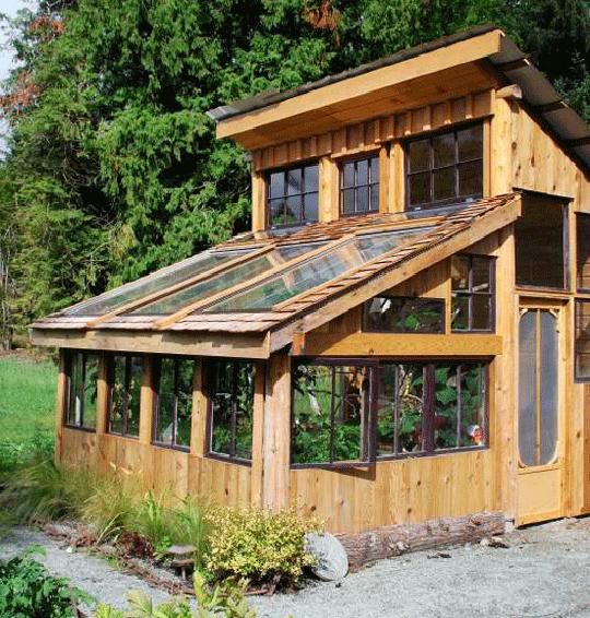 A greenhouse from recycled materials | bcliving