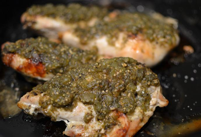 Roasted Chicken with Tomatillo Salsa Verde
