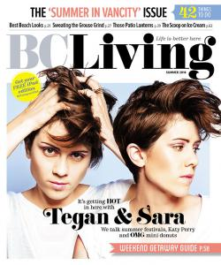 Tegan & Sara on the cover of BCLiving